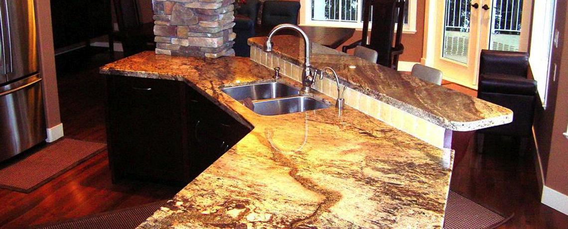 Stunning Granite Kitchen Countertop & Island – Salmon Arm