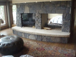 Limestone Fireplace Hearth